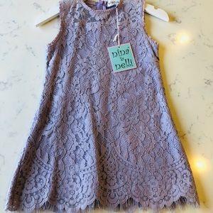 NWT Nina & Nelli Lavender Lace Dress